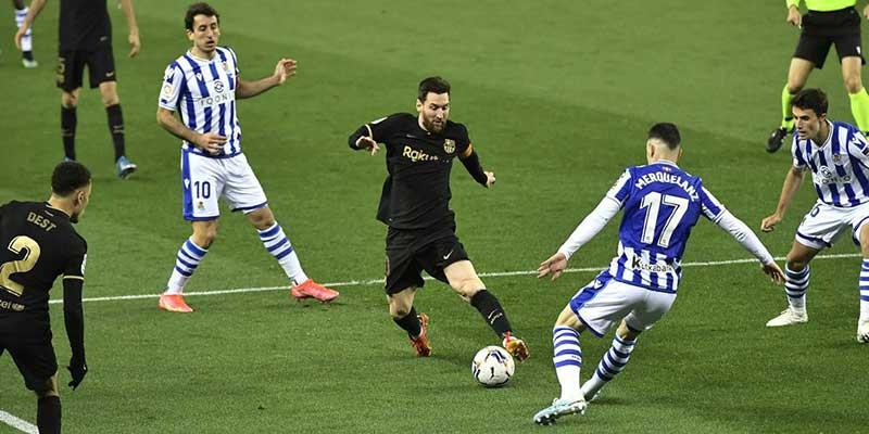 Pertandingan Real Sociedad Vs Barcelona 21/3/2021