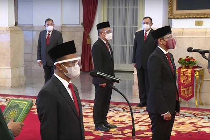 Susunan Nama Menteri Kabinet Indonesia Maju Reshuffle Kedua