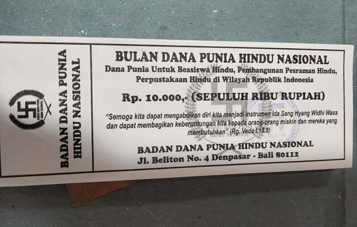 Kupon Dana Punia Hindu