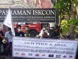 Penutupan Ashram Hare Khrisna ISKCON Sidakarya oleh Masyarakat & Sandhi Murti