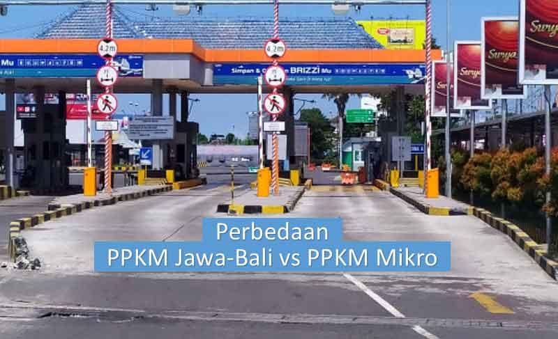 Perbedaan PPKM Jawa-Bali dan PPKM Mikro