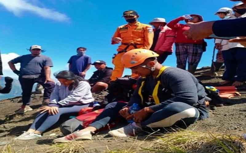 Nekat Mendaki Gunung Batur Tanpa Guide, 2 Pendaki jatuh ke Jurang