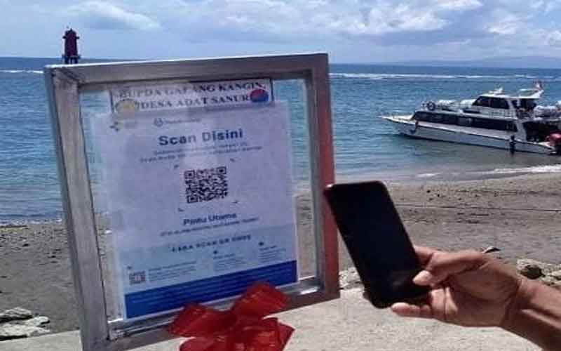Masuk Pantai Sanur Wajib Pakai Aplikasi Pedulilindungi